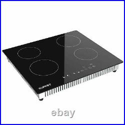 Electric Cooktop Induction Cooktop with 4 Burners Vitro Ceramic Munites Timer