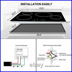 Electric Cooktop, thermomate 30 Inch Built-in Induction Stove Top, 240V Electric