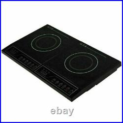 Electric Double Induction Cooktop Built In Countertop Cooker Stove Two Burners