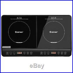 Electric Dual Digital Induction Cooker Ceramic Cooktop 1800W Countertop Burner