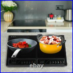 Electric Dual Induction Cooker Cook Counter Burner 2000 Watts Hot Plate