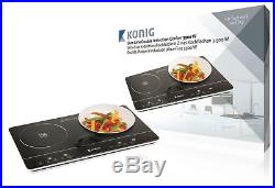 Electric Induction Cooker Hob Portable Double Digital LCD LED 3500W Black New