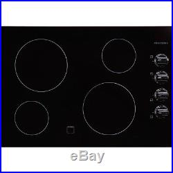 Electric Stove Top High Powered 4 Four Burners Cooktop Range Kitchen Black New