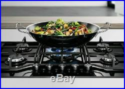 Electrolux KGG7536K- 75cm Black Ceramic glass Gas Kitchen Hob- WOK burner