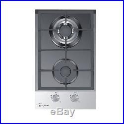 Empava 12 Tempered Glass Italy Sabaf Burners Gas Stovetop Cooktop EMPV-12GC027