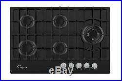 Empava 30 Gas Stove Cooktop LPG/NG Convertible with 5 Italy SABAF Burners Tempe