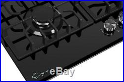Empava 30 in. Gas Stove Cooktop 5 Burners Tempered Glass 30GC26