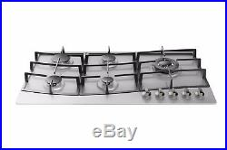 Empava 34 Stainless Steel Built-in 5 Burners Stove Gas Hob Fixed Cooktop, 4.33