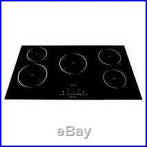 Empava 36 5 Booster Burners Tempered Glass Electric Induction Cooktop