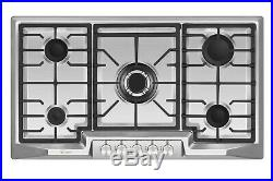 Empava 36 Gas Cooktop 5 Burners Built-in Stove Stainless Steel 110V Cooker #881