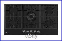 Empava 36 Gas Cooktop 5 Burners Built-in Stove Tempered Glass NG/LGP 36GC905