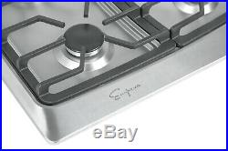 Empava 36 Gas Stainless Steel Cooktop 5 Burners Cooking Built-in Stove #901