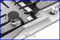 Empava 36 in Stainless Steel Gas Cooktop 5 Burners Cooker Built-in Stove #881