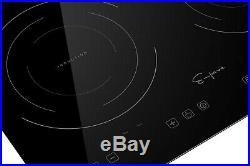 Empava Horizontal Electric Induction Cooktop 2 Burners 120V Glass Stove 1800W