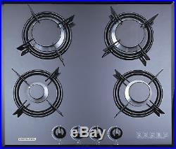 F4-B60 60cm Built-in Gas hob 4 burner FFD Cooktop black Tempered glass NG use