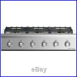 Fisher & Paykel CPV2366NN 36 Gas Rangetop 6 Sealed Dual Flow Burners- Stainless