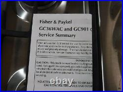 Fisher & Paykel GC901 Stainless Steel 36 in. Gas Gas Cooktop