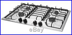 Frigidaire 30 Stainless Steel 4 Burner Gas Cooktop FFGC3012TS