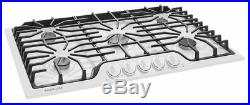 Frigidaire 36 36 inch 5 Sealed Burner White Gas Cooktop FFGC3626SW