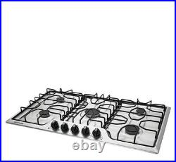 Frigidaire FFGC3612TS 36 Stainless Sealed 5 Burner Cooktop New LP kit included