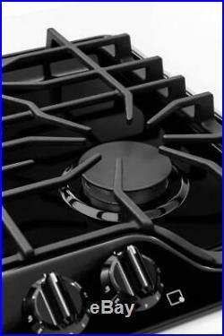 Frigidaire Gallery 30 4 Sealed Burners Black Gas Cooktop FGGC3045QB