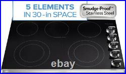 Frigidaire Gallery 30 Stainless Smoothtop 5-Element Electric Cooktop FGEC3067MS