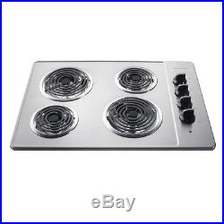 Frigidaire Stainless Steel Electric Cooktop 4 Burner Oven Top Kitchen Cooking