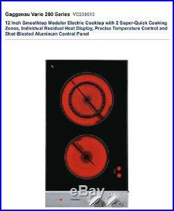 GAGGENAU VARIO 200 SERIES, 12 ELECTRIC DROP IN COOKTOP #VC230613, see pics