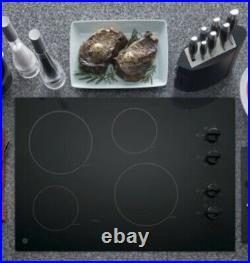 GE 30-inch Element Smooth Surface (Radiant) Black Electric Cooktop