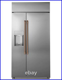 GE Cafe Professional Stainless Steel Kitchen Package Brushed Copper Handles