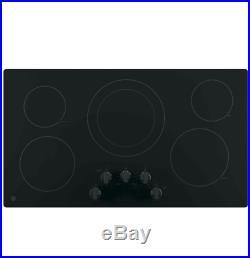 GE JP3036DLBB 36 Black 5 Burner Electric Cooktop NOB #28831 HL