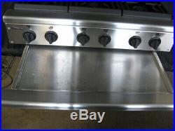 GE Monogram 36inch pro restaurant style 6 burn gas stainless cooktop ZGU36N6YSS