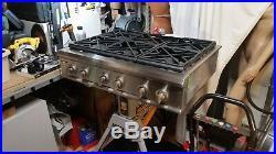 GE Monogram ZGU36L6H2SS Rangetop 36in 6 Burner Propane (LP)
