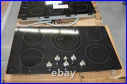 GE PP962EHES 36 Black 5 Burner Built-In Electric Cooktop NOB #28466 HL
