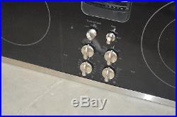 GE PP9830SJSS 30 Black Smoothtop Downdraft Electric Cooktop NOB #27679 HL