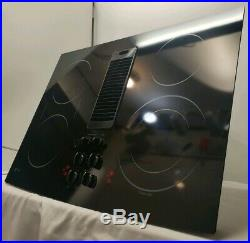 GE Profile 30 inch Downdraft Electric Radiant Cooktop PP989DN2BB Stovetop Glass