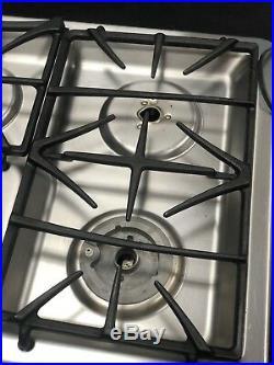 GE Profile JGP975SEKSS Built In Gas Cooktop Stainless Steel 36 5 Burners