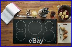 GE Profile Series 36 Built-In Electric Induction Cooktop Black on Black