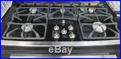 GE Profile Series JGP970SEKSS Built-in 36 Stainless Steel Gas Glass Cooktop