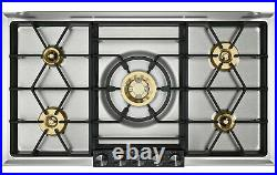 Gaggenau 36 SS 5 Burner 200 Series Gas Hob Cooktop VG295220CA