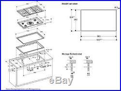 Gaggenau CG 492211 / 400 series gas cooktop / Stainless steel / NEW