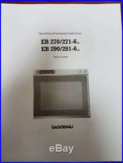 Gaggenau EB270600, Type HLEB27 Built-In Electric Wall Oven, Left Door Handle