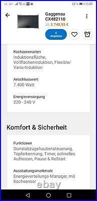Gaggenau Kochfeld Cx480111 funktioniert