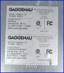 Gaggenau Vario 400 Series VI424610 15 Inch Modular Induction Dual Cooktop
