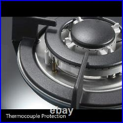 Gas Cooktop 30 inches Tempered Glass Built in Gas Stove 5 Burners LPG NG Dual