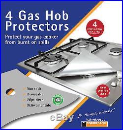 Gas Hob Protectors Silver X 4 Keep Your Hob Clean No More Scubbing