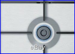 Gaskochfeld Bosch PGP6B5B80 Kochfeld Gas 60cm Einbau autark Edelstahl 4 flammig