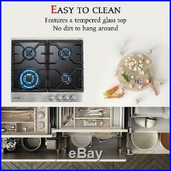 Gasland Chef GH60BF 24'' Built-in Gas Stove Top with 4 Sealed Burners, LP/NG