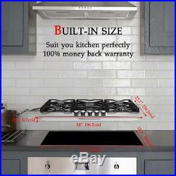 Gasland chef Gas Cooktop 36'' Built-in Gas Stove Top with 5 Sealed Burners