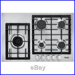 Haier Hcc3430ags 30 5 Burner Gas Cooktop Stainless